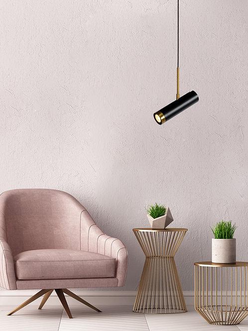 SELIN - Pendant light - Ø 6 cm - 1xGU10 - Black