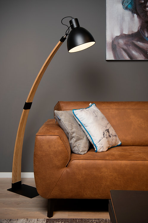 CURF - Floor reading lamp - 1xE27 - Black