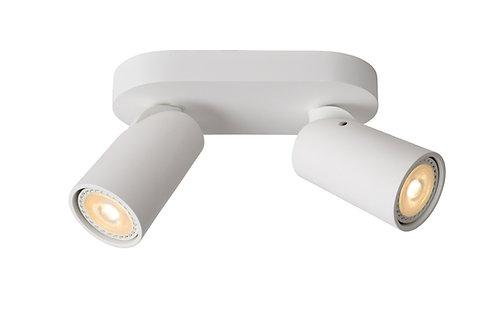 XYRUS - Ceiling spotlight - LED Dim to warm - GU10 - 2x5W 2200K/3000K - White