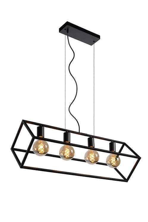 FABIAN - Pendant light - 4xE27 - Black