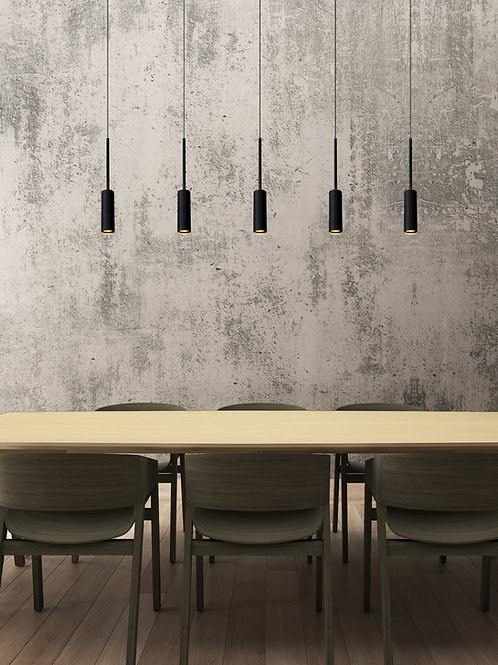 TUBULE - Pendant light - LED - 5x7W 2700K - Black