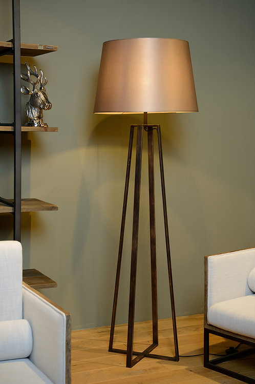 COFFEE - Floor lamp - Ø 55 cm - 1xE27 - Rust Brown