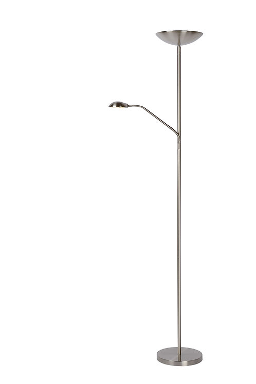 ZENITH - Floor reading lamp - Ø 25,4 cm - LED Dim. - 3000K - Satin Chrome