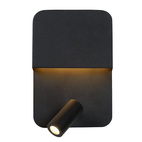 BOXER - Wall light - LED - 3000K - With USB charging point - Black
