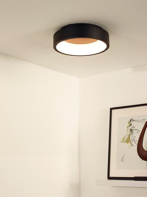 TALOWE LED - Flush ceiling light - Ø 30 cm - LED Dim. - 1x20W 3000K - Black