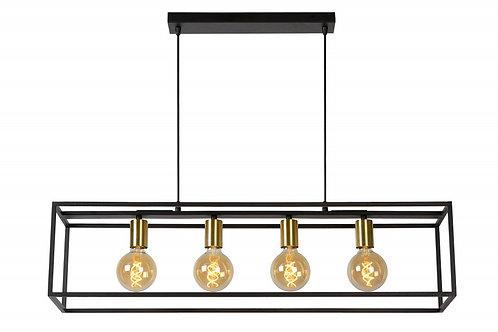 RUBEN - Pendant light - 4xE27 - Black