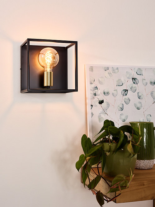 RUBEN - Wall light - 1xE27 - Black