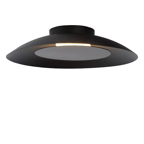 FOSKAL - Flush ceiling light - Ø 34,5 cm - LED - 1x12W 2700K - Black