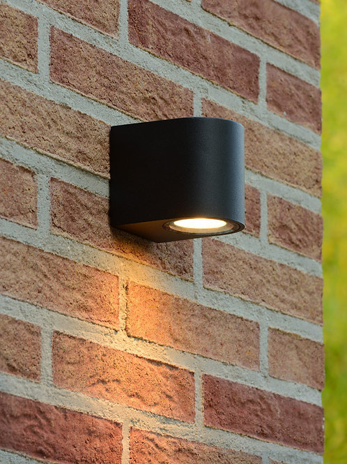 ZORA-LED - Wall spotlight Outdoor - LED Dim. - GU10 - 1x5W 3000K - IP44 - Black