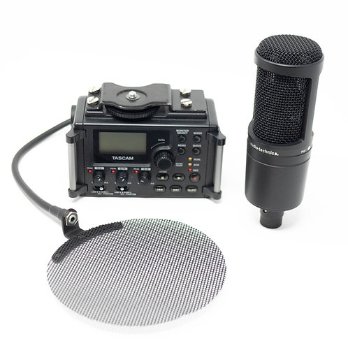 Ensemble Tascam DR-60D MKI et micro Audio-technica At2020