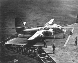 Grumman S2F Tracker on Randolph's #3 elevator in 1962 picture