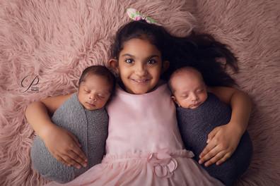 Twins Newborn Photography II Priyanka Modh Photography