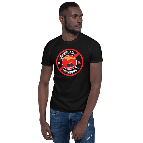 Handball Lock Down - Black | Short-Sleeve Unisex T-Shirt