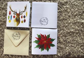 Přání vánoční hvězda a jelen