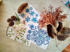 Jmelí, sněhové vločky a ledové květy
