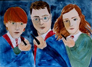 Harry, Ron a Hermiona