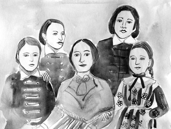 Barunka se svými ještě všemi čtyřmi dětmi