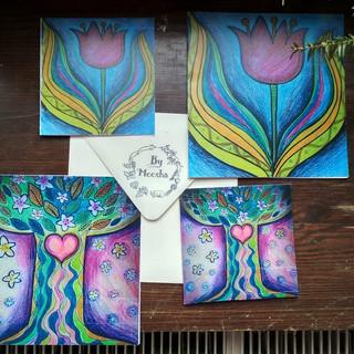 Strom života a tulipán