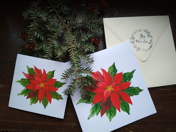 Přání vánoční hvězda