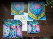 Přání strom života a tulipán