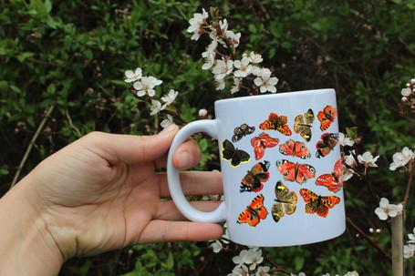 Motýli keramický hrnek