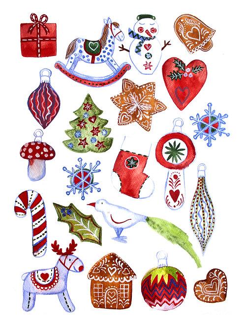 Plakát Skandinávské Vánoce