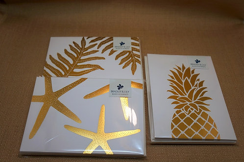 Gold Foil Note Cards (Set of 6)