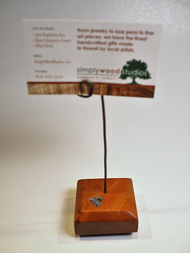 Koa Picture Stand - Heart Inlay