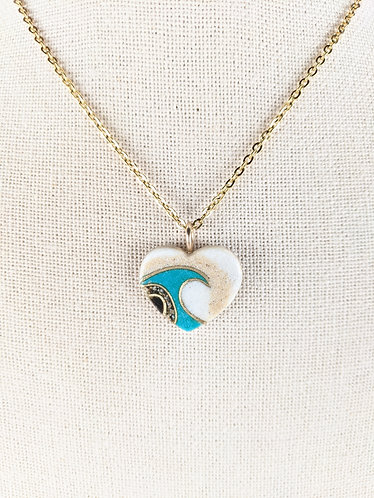 Sand Gems Heart  Necklace