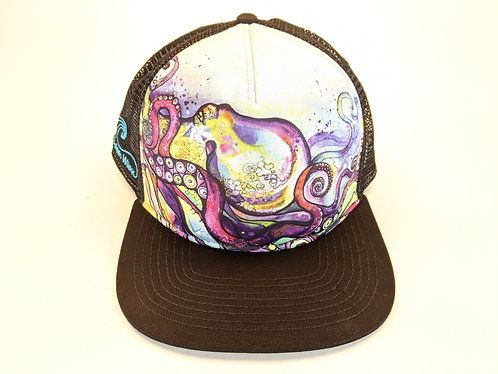 Hawaiian Art Printed Trucker Hats (Octopus)