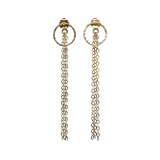 Teardrop Earrings with Chain Backing Gold Fill