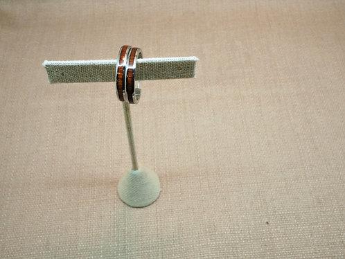 Koa Wood Hoop Earrings
