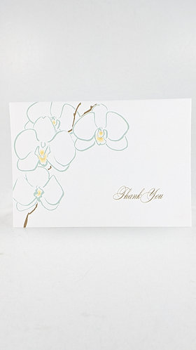 Folded Note Card Set (orchid)