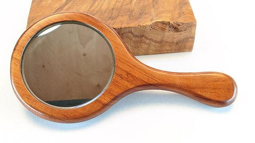 """Hawaiian Koa Wood Handheld 4"""" Mirror"""