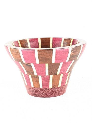 Segmented Koa, Maple, and Purple Heart Vase
