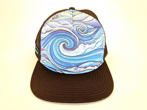 Hawaiian Art Printed Trucker Hats (Ocean)