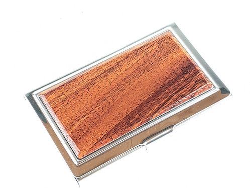 Koa Wood Business Card Holder