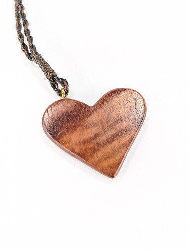 Hawaiian Koa Wood Heart