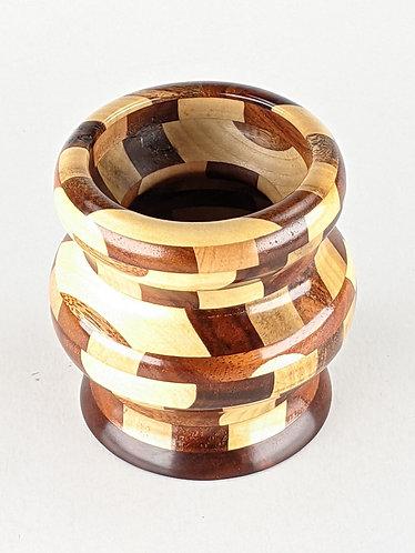 Segmented Koa, Maple, & Milo Vase (small)