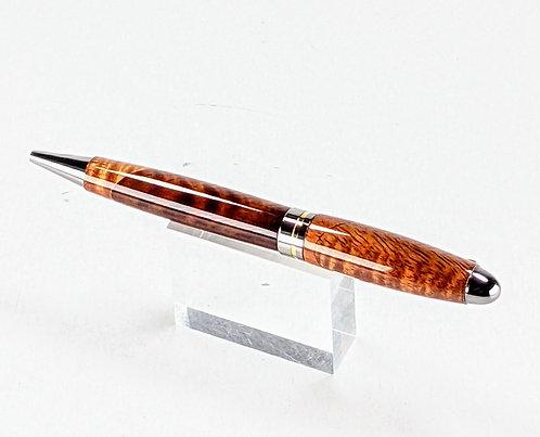 Hawaiian Koa Pen -  Neopean Ballpoint, Titanium