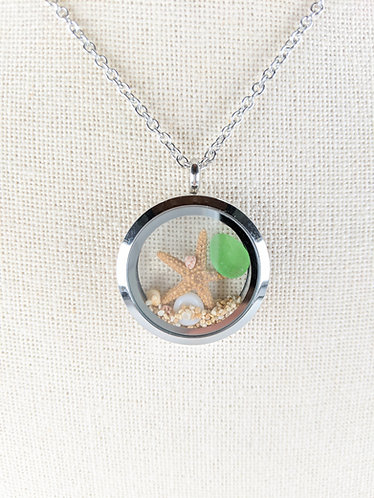 Large Locket and Chain (green)