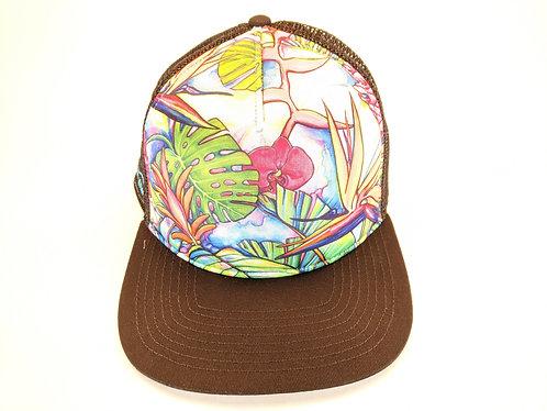 Hawaiian Art Printed Trucker Hats (Jungle)