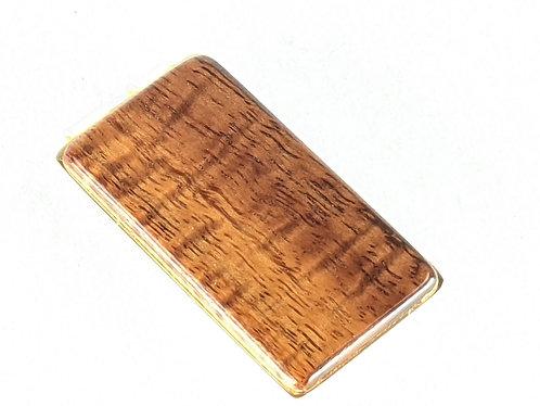 Koa Wood Money Clip (gold clip)