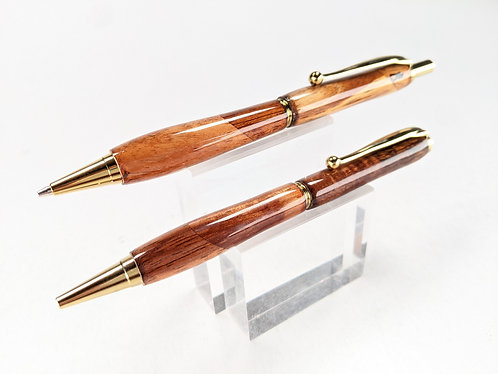 Select Hawaiian Koa Pen & Pencil Set with Gold Finish
