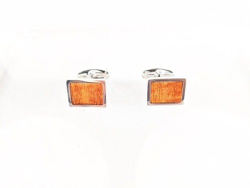 Koa Wood Titanium Cufflinks