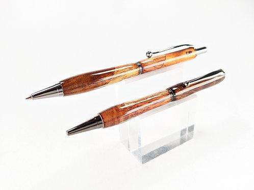 Select Hawaiian Koa Pen & Pencil Set with Titanium Finish