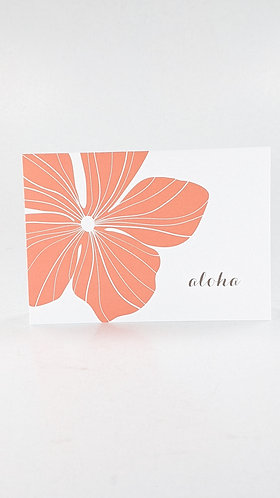 Folded Note Card Set (hibiscus)