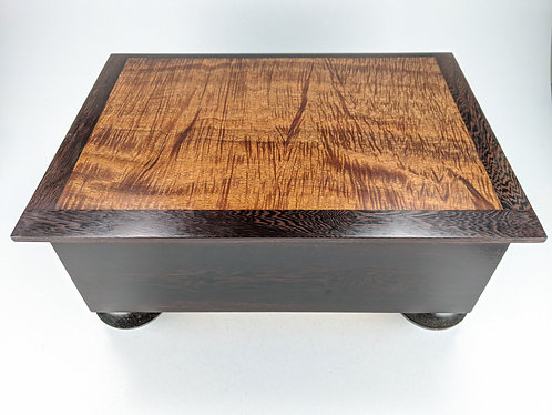 Curly Hawaiian Koa and Pheasant Wood Premium Jewelry Box