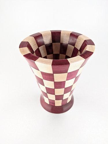 Segmented Purple Heart and Maple Vessel