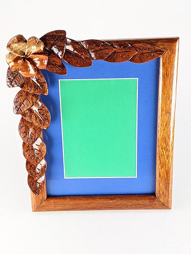 Carved Flower Frame 8x10 (blue)